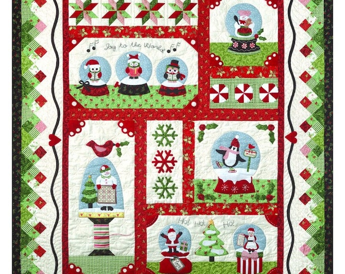 Snow Globe - Precut/Fused Applique Kit including Pattern