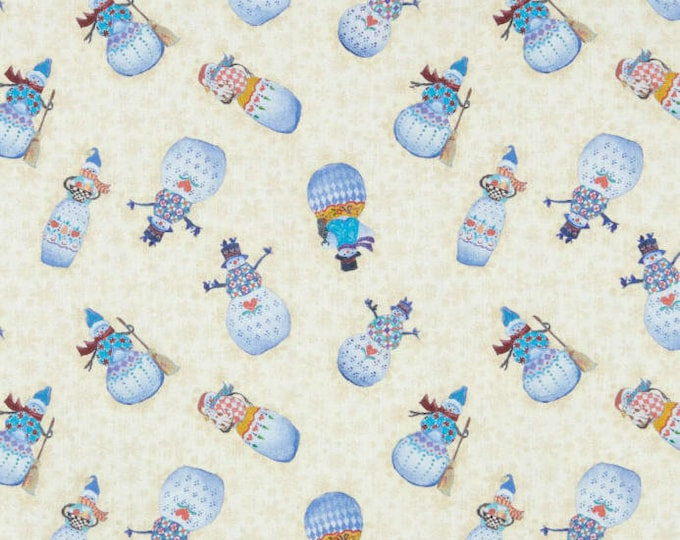 Benartex - A Quilter's Christmas  - Snowman Village   - Cream -  06659-07  - Sold by the Yard