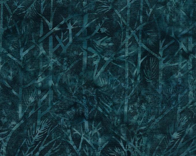 Island Batik - Twig - Tree Batik - Batik - Cool Water - Sold by the Yard