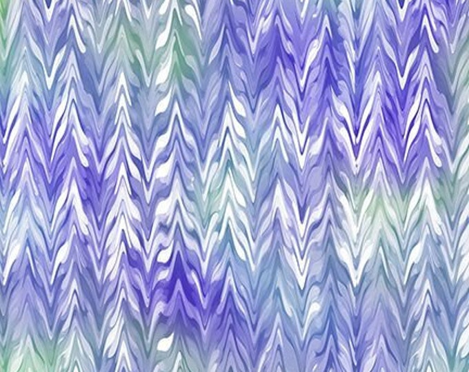 Quilting Treasures - Belle - Purple - Periwinkle - Watercolor Chevron -  Sold by the yard