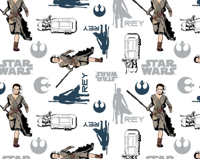 Camelot - Star Wars -The Force Awakens - Rey - White -  7360104 - Sold by the Yard