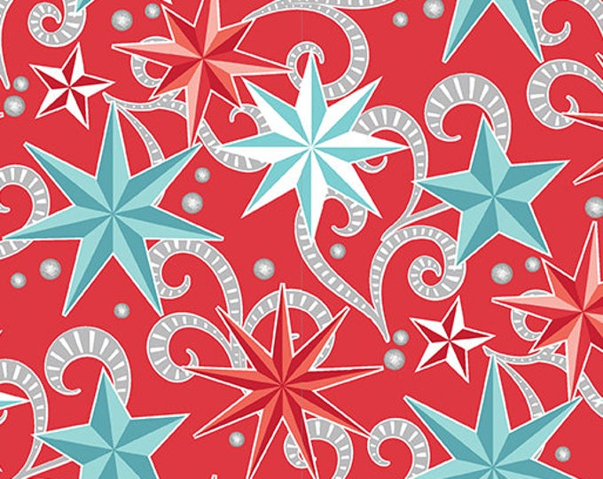 Contempo - Nordic Holiday - Stars - 1882-10 - Fabric by the Yard