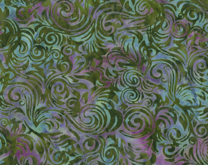Anthology - Batik - Water Scroll - 237Q-3 -  Sold by the yard