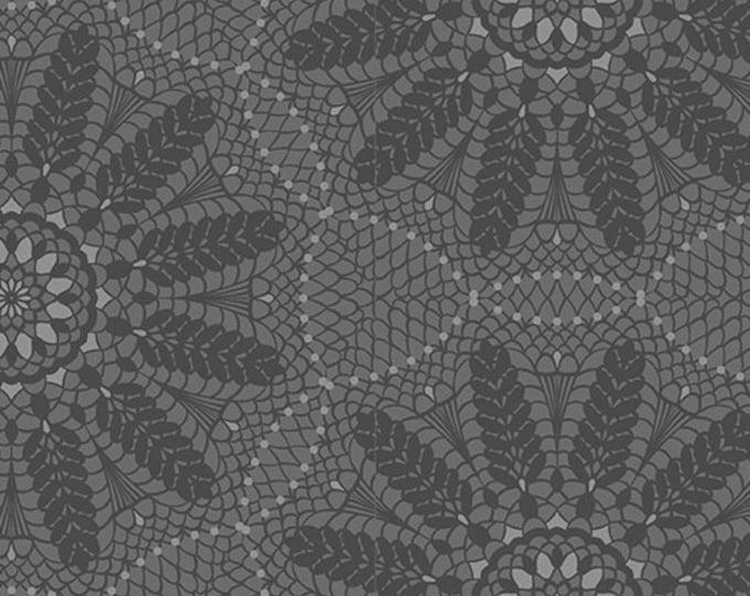 Benartex - Contempo - Meadow Dance - by Amanda Murphy - Crochet Lace - Gray - 4043-11 - Sold by the Yard