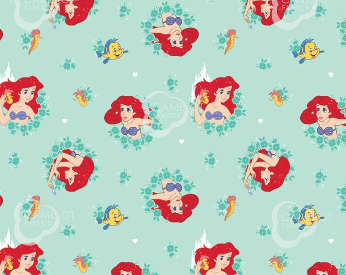 Camelot - Disney - Little Mermaid - Forever Princess - Princess in Wreaths -  85100506 - Sold by the Yard