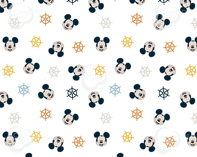 Camelot - Mickey & Pluto -  Ship Wheels -  Disney - Oh Boy - Mickey - Disney Fabric  - Sold by the Yard