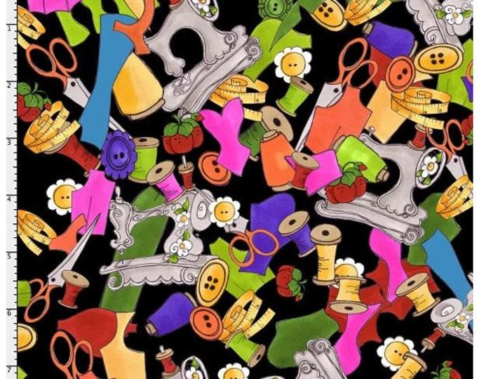 Loralie Design - Kaledasew - Sewing - machines - Thread  - Black - 691-981 -  Sold by Yard