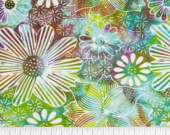 Northcott - Banyan Batik - Batik - Floral  - 80080-62 - Batik - Sold by the yard