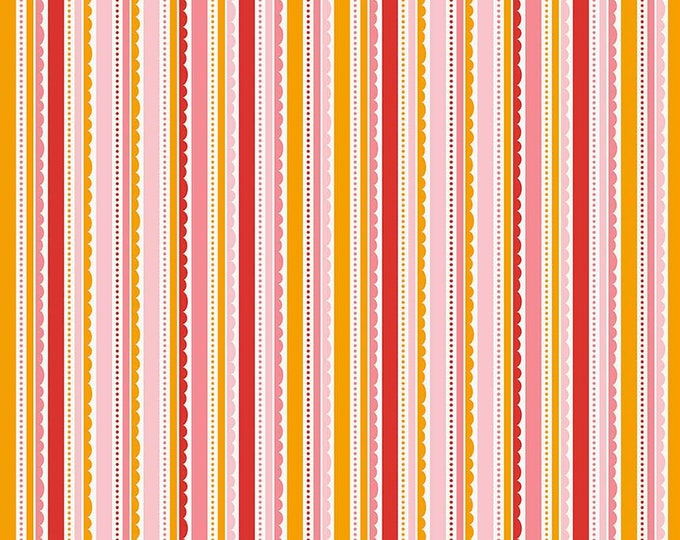 Riley Blake - Happy Stripe - Pink - C5915