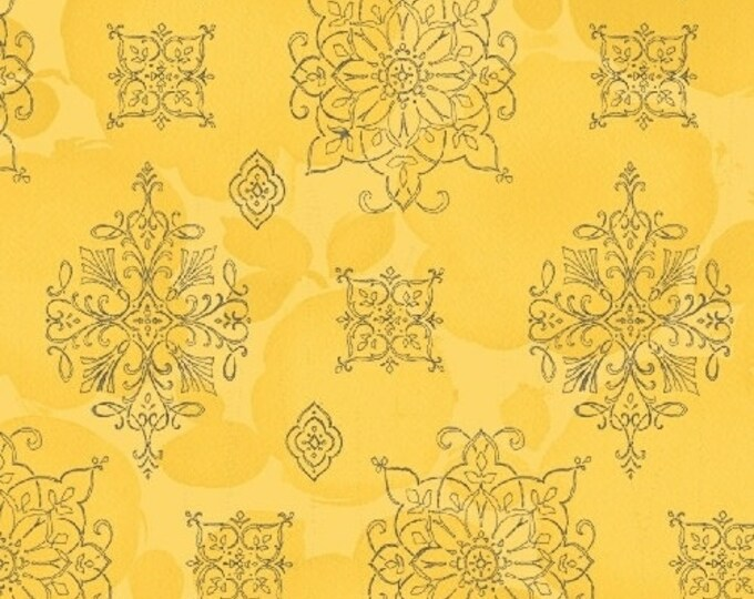 Windham Fabrics - Soleil by Whistler Studios'  - Yellow Medallion Fabric