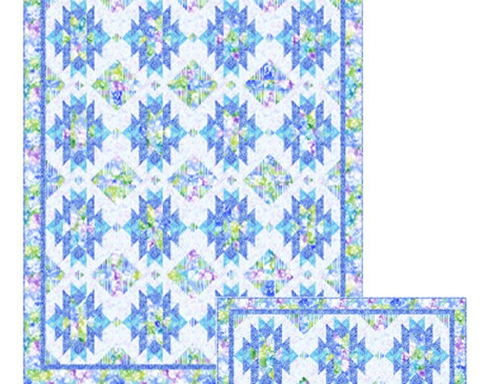 """Quilting Treasures -Mimosa - Strip It Quilt Pattern and Table Runner Pattern - Quilt 64""""x78"""" - Table Runner 22""""x47.5"""" - Sold by the Pattern"""