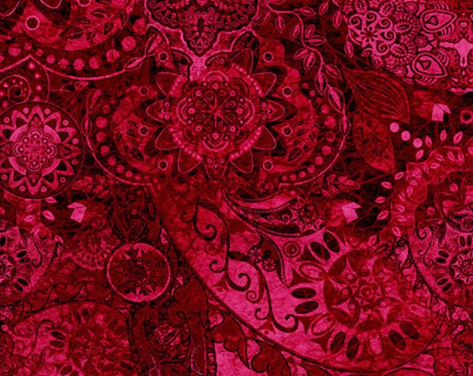Quilting Treasures - Bohemian Rhapsody - Ombre - 26956M -  Cherry Bomb  - Fabric - Sold by the Yard
