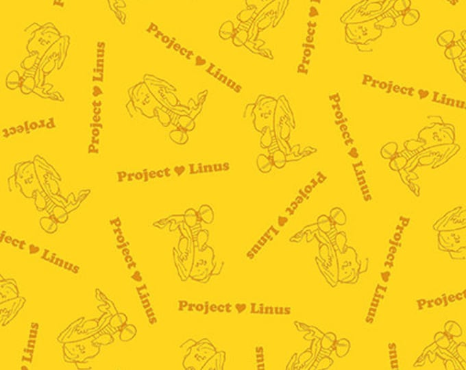Quilting Treasures - Project Linus - Linus Blender - Yellow - Peanuts Fabric -  Sold by the Yard
