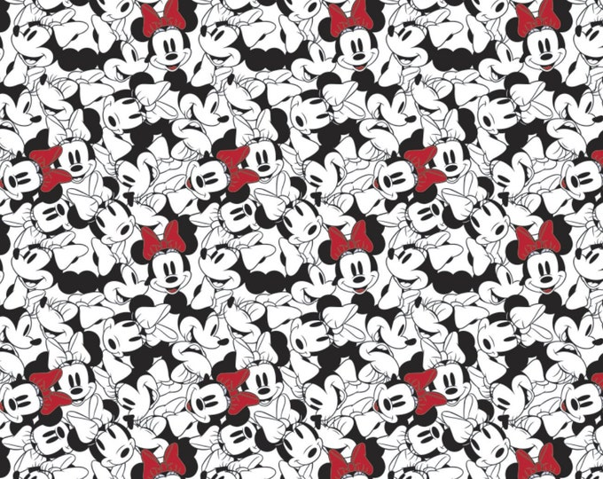 Camelot - Minnie Mouse -Dreaming in Dots - Minnie Tossed Stack  - Minnie - Words - Minnie Mouse- 85271010-01 - White - Sold by the Yard