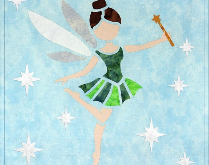 "Sew Enchanted - Green Fairy - Pre-cut/fused Kit - 15""x15"" - Precut/Fused Applique Kit - precut kit -  Sold by the Kit"