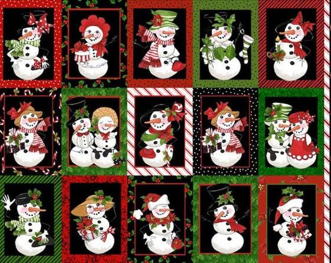 Loralie Design - Snow Ladies - Black Panel - 692-400  -   Panel - Sold by Panel