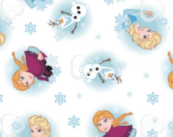 NEW- Camelot - Alpine Wonder - Disney Frozen Fabric - Snowflakes - Anna - Elsa - Olaf - Frozen 2 Fabric -White- 85190904-01-Sold by the Yard