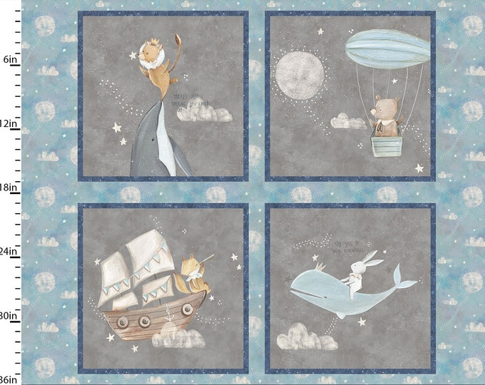 Three Wishes -Adventure in the Sky  -  Panel - Block Panel - Full Yard Panel - 14653  - Sold by Panel