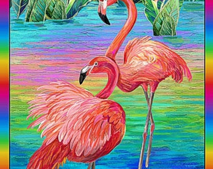 Paint Brush Studioes Fabric - Fabulous Flamingo - Multi Colored -  Panel -  120-208901 -   Panel - Sold by Panel