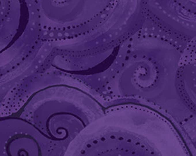 Laurel Burch - Sea Goddess - Wave - Dark Purple  - Y2602-28 - Sold by Yard