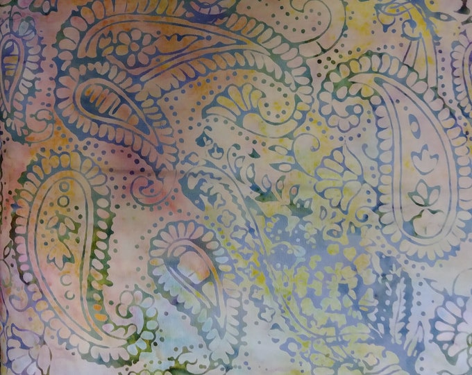 Island Batik - Paisley Outlining - Sweet - Paisley Batik - Paisley - Batik - Multi  - Sold by the Yard