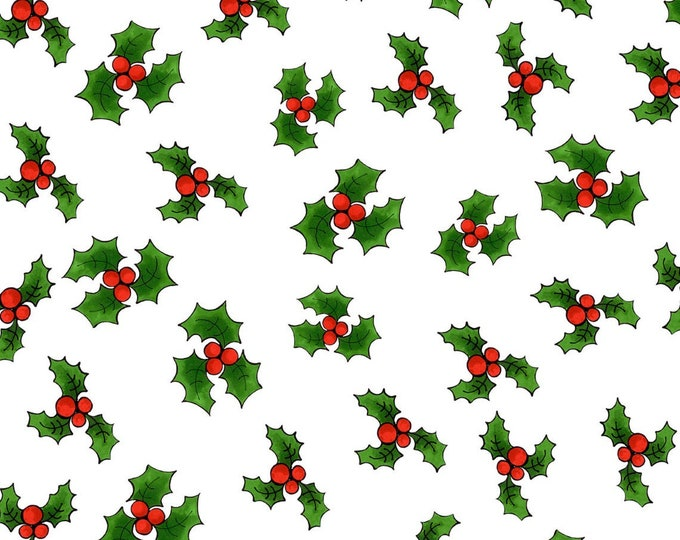Loralie Design - Snow Ladies - White Holly - 692-407-  Sold by Yard