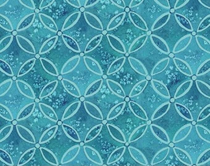 "Northcott - Coastal Christmas - Blue - Circle Grid - Christmas - Beach Christmas - Ocean - 23428 44-  36""x44"" - Sold by the Yard"