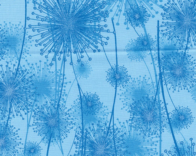 Kanvas for Benartex - Pearl Reflection - Pearl - Dandelion  - Light Peacock - 8459P-54 - Pearl - Sold by the Yard