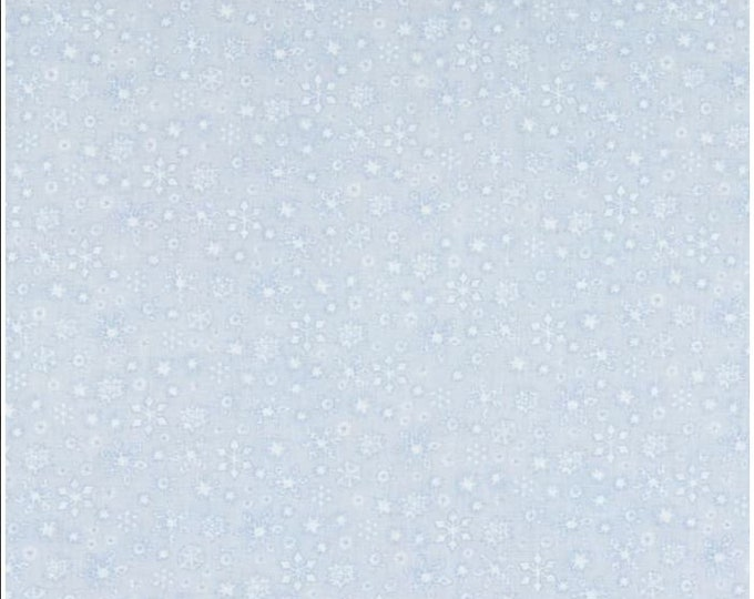 Benartex - White Woodland - Whisper Snowflake  - Light Periwinkle  -- 06650-05- Sold by the Yard