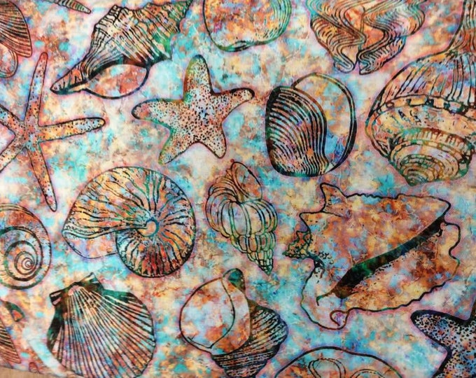 Quilting Treasures - Oceana - Sea Fabric - Ocean - Seashells - 27088  -  Sold by the Yard