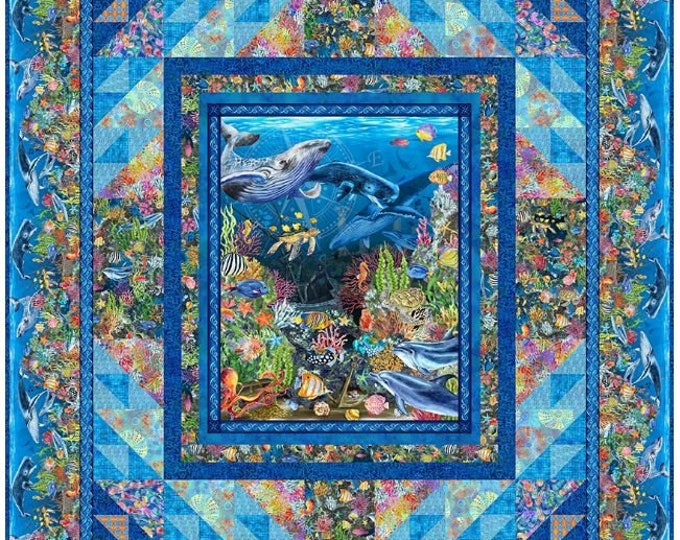 In the Beginning Fabrics - Calypso  II- Jason Yenter - Panel Quilt Pattern - Sold by the Pattern - Paper Pattern