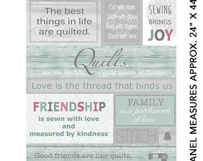 Benartex - Words to Quilt By - Panel - Text - Words - 0697099B -  Sold by the Panel