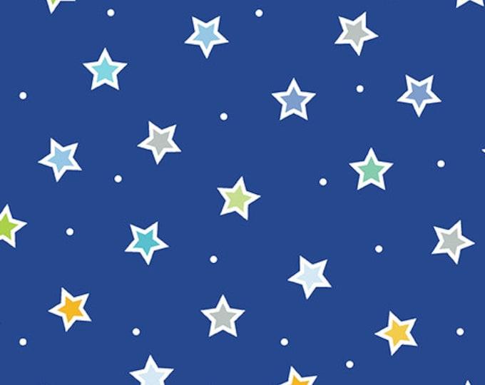 Kanvas for Benartex - Sweet Safari - Sweet Stars - Stars - Safari -  Royal Blue - 9897-55 -  Animal fabric - Baby Fabric - Sold by the Yard
