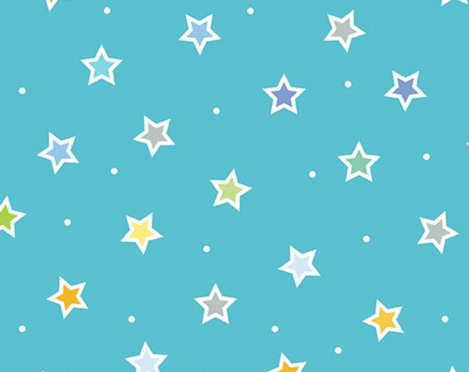 Kanvas for Benartex - Sweet Safari - Sweet Stars - Stars - Safari -  Turquoise  - 9897-84 -  Animal fabric - Baby Fabric - Sold by the Yard
