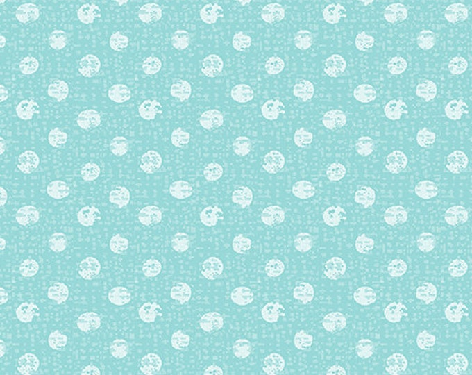 Kanvas for Benartex - Sweet Safari - Textured Dots - Dots - Safari -  Turquoise  - 9898-84 -  Animal fabric - Baby Fabric - Sold by the Yard