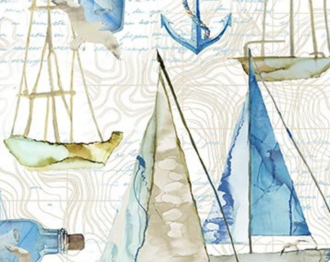 Northcott - Sail Away - Sail Boats -  DP24163-11 - Sailboats- Sold by Yard