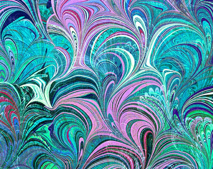 Benartex - Poured Color - By Paula Nadelstern - Teal  -   12355-84B  - Sold by the Yard