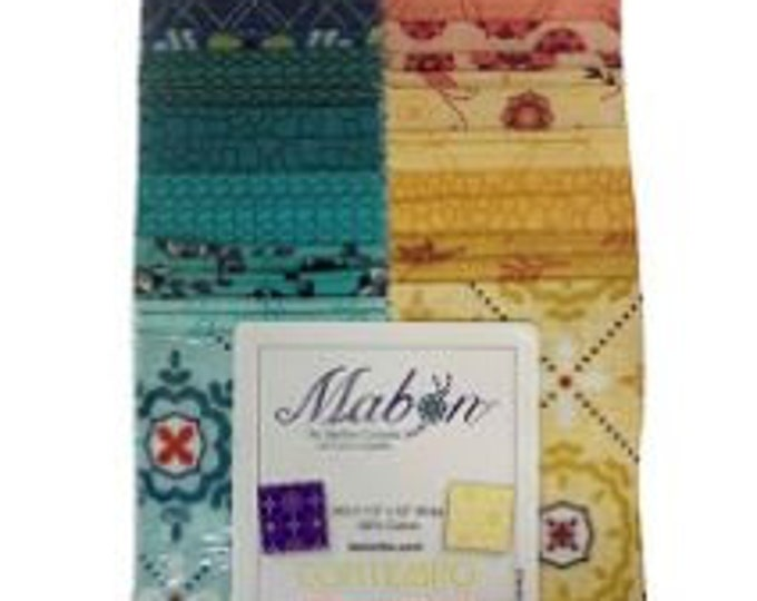 Contempo - Mabon Jellyroll - (40) 2.5 inch strips - Bright - STMABPK - Strippies - Strip-pies - Jelly Roll Pack- Sold by the Jelly roll Pack