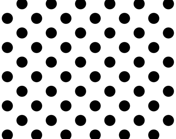 Free Spirit Fabric - Tula Pink - Linework - Line Work - Pom Poms - Dots - PWTP118 - Paper - White  - Sold by the Yard
