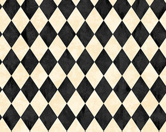 Northcott - Black Cat Caper - Harlequin on Cream - Halloween - Harlequin -  24122-12 - Sold by the Yard