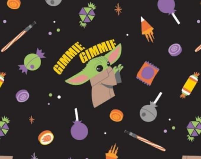 NEW - Camelot - Star Wars Halloween - Gimme Candy - Mandalorian - The Baby Yoda - Yoda - Baby Yoda - Orange - 73800268-02 - Sold by the Yard