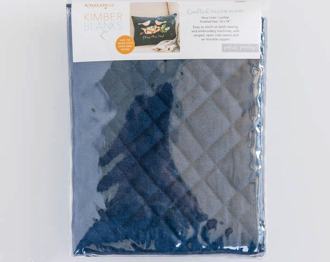 Kimberbell - Quilted Pillow Cover - Navy - 12x18 - Sold by the Pillow Cover Blank