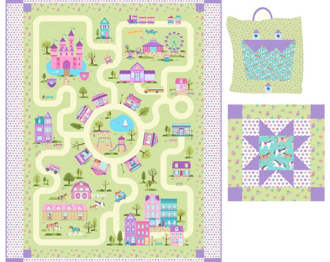 Northcott - Dreamland - Once Upon A Time - Play Mat - Quillow and toy bag - Quilt Pattern - Paper Pattern - PTN28110  - Sold by the Pattern