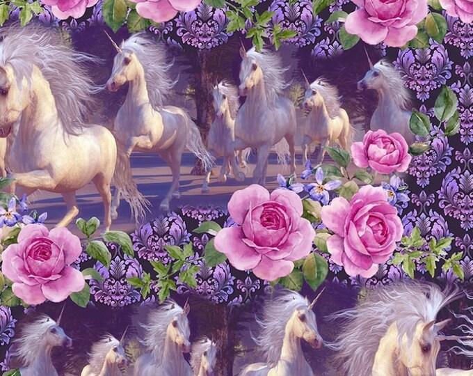 In the Beginning Fabrics - Unicorn - Running Unicorn - 4UN1 -  Sold by the Yard