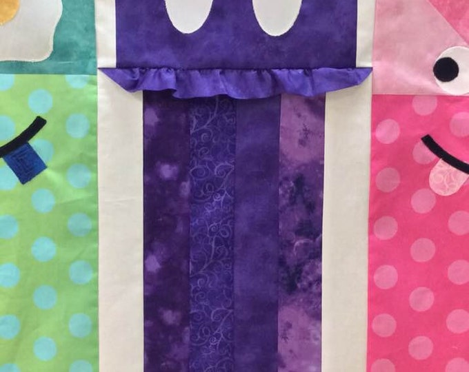 2019 Row by Row Juniors Jelly Monster Kit - Taste the Experience -  Monster Kits - Purple  - Applique and Fused - Pre-Order
