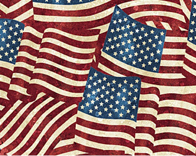 Northcott - Stars and Stripes - Flags - American Flag -  20158-49 - Stripe Fabric- Valor - Sold by the Yard
