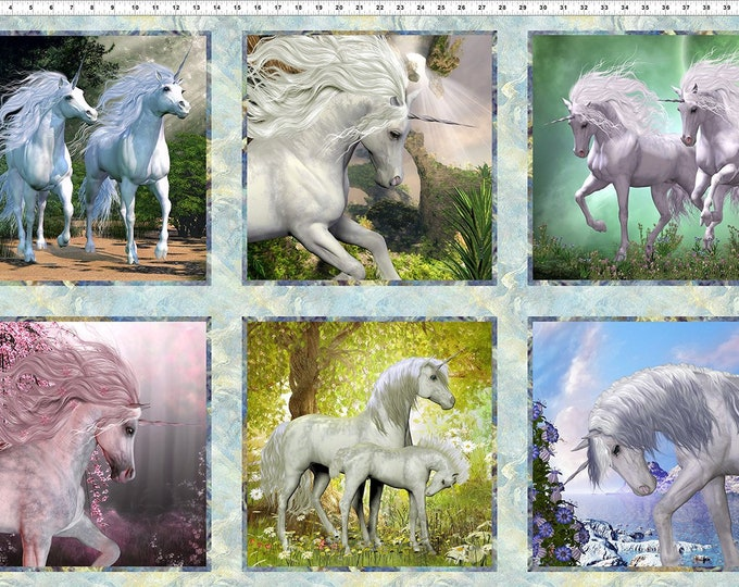 In the Beginning Fabrics - Unicorn - Unicorn Panel - 2UN1 -  Sold by the Panel