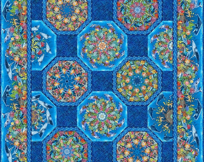 In the Beginning Fabrics - Calypso  II- Jason Yenter - Kaleidoscope Quilt Pattern - Sold by the Pattern - Paper Pattern