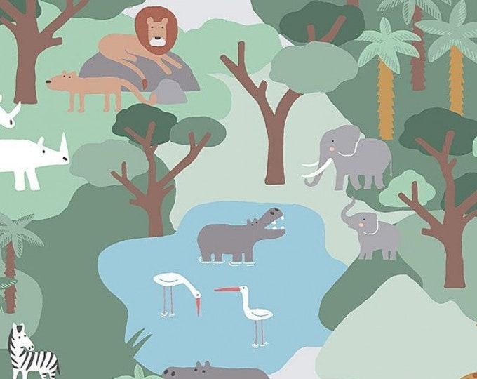 Dear Stella - Born to be Wild  - Safari - Jungle -  1662-   Animal  -  Sold by the Yard