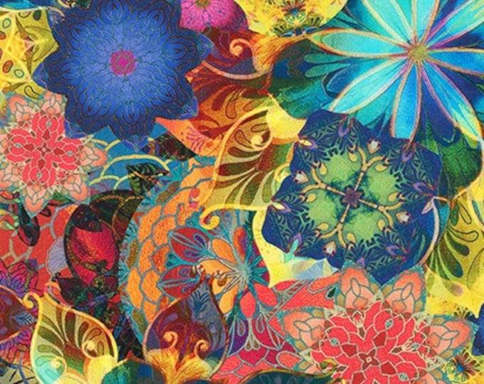 Robert Kaufman - Venice - Floral - AQSD-19718-205 - Multi - Sold by Yard